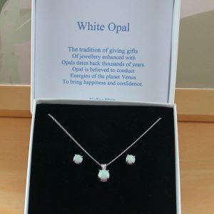 opal necklace and earrings