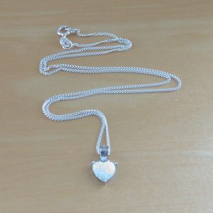 opal heart necklace uk